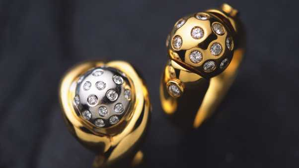 ring, gold, silver
