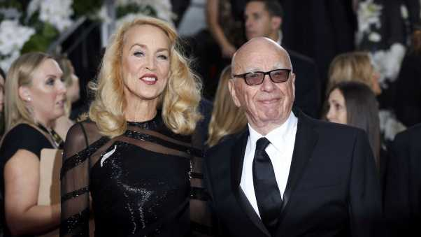 rupert murdoch, jerry hall, marriage