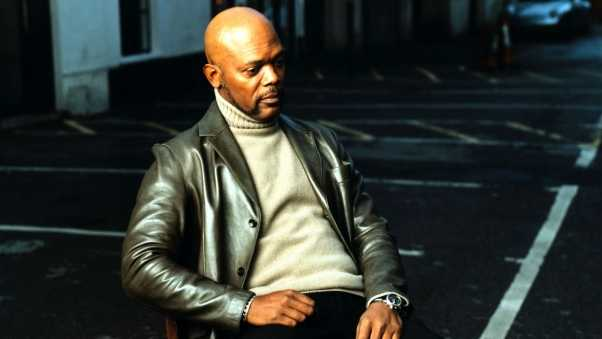 samuel l jackson, jacket, sweater