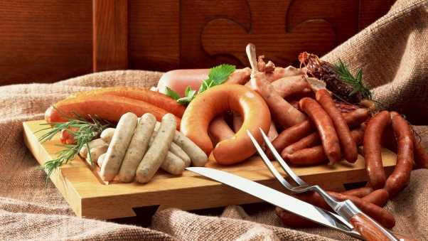sausage, variety, meats