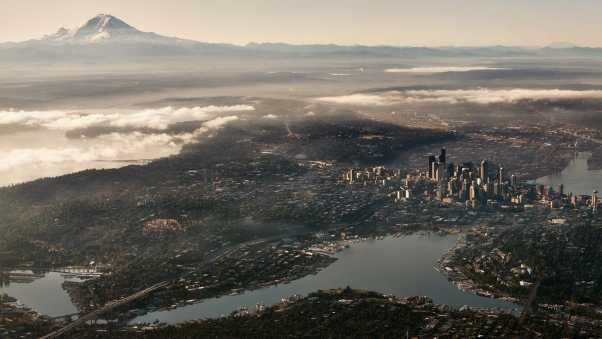 seattle, usa, top view