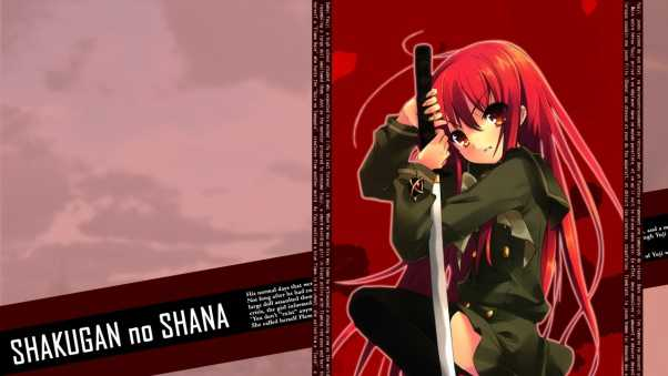 shakugan no shana, girl, hair