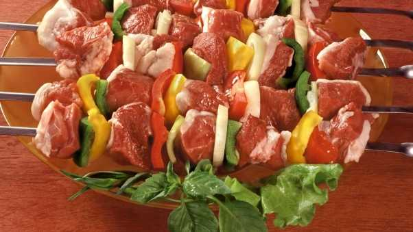 shish kebab, meat, fresh