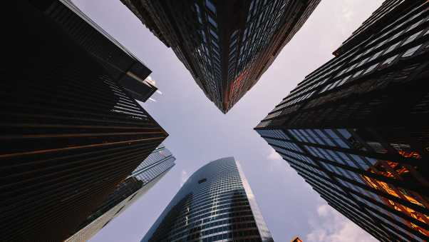 skyscrapers, view from below, architecture