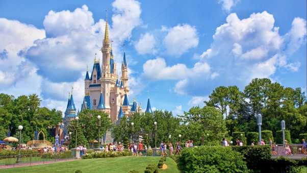 sleeping beauty castle, florida, usa