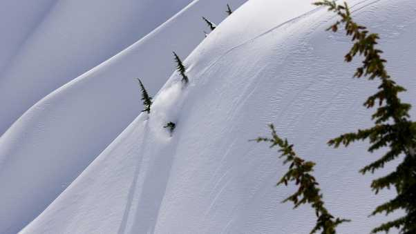 slope, mountains, snowboard