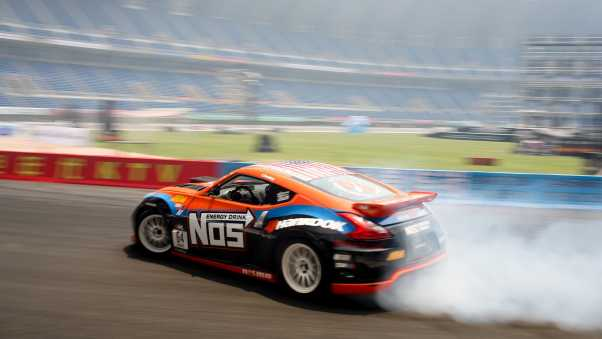 smoke, drift, nissan 370z