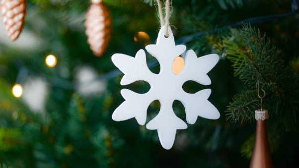 snowflake, christmas tree, decoration