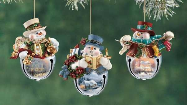 snowmen, christmas decorations, branch