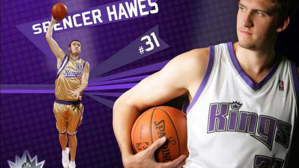 spencer hawes, basketball, ball