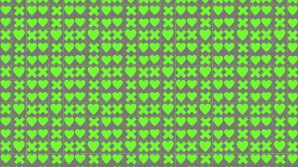 squares, hearts, crosses
