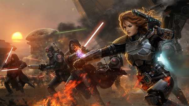 star wars the old republic, girl, lightsabers