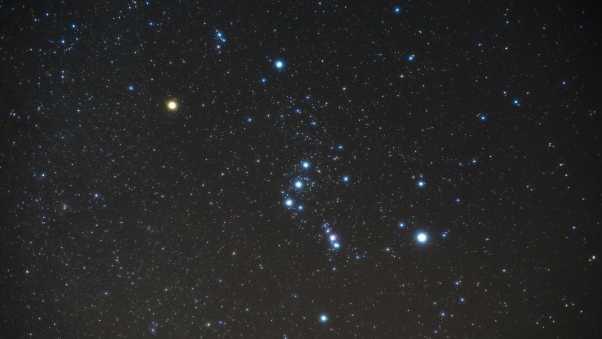 starry sky, orion, constellation