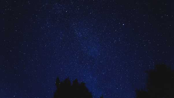 starry sky, shine, night