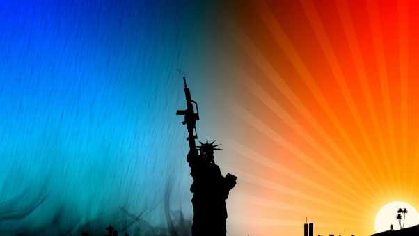 statue of liberty, vector, multi-colored