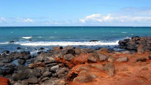 stones, coast, waves