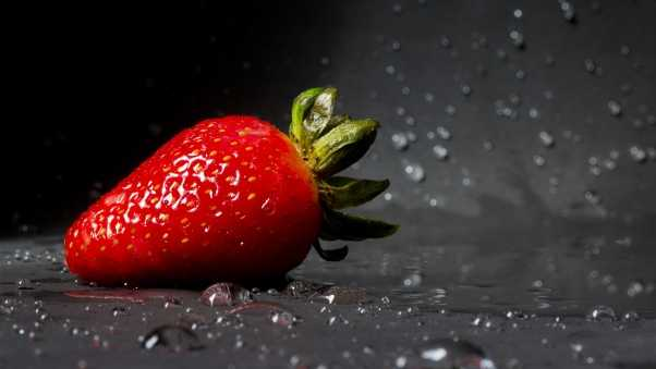 strawberry, drops, berry