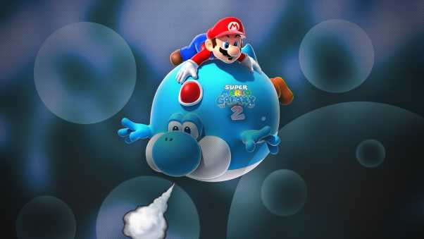 super mario galaxy 2, game, 3d