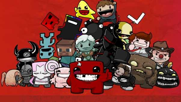 super meat boy, characters, smile