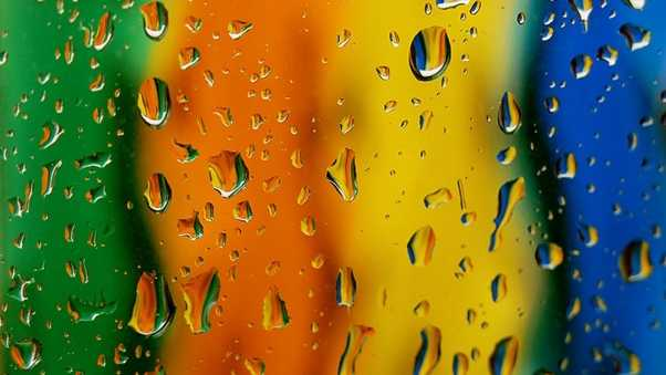 surface, drops, colorful