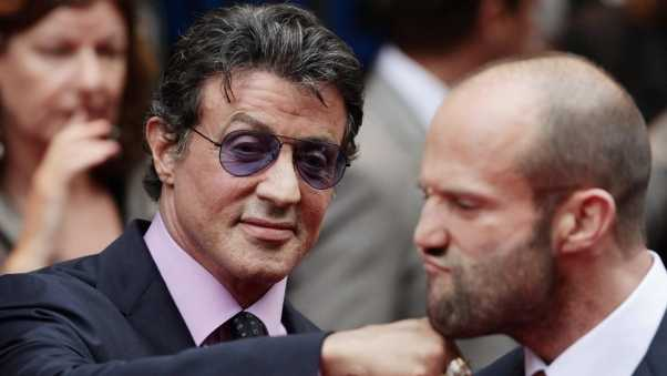 sylvester stallone, jason statham, celebrities