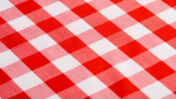 tablecloth, red and white, texture