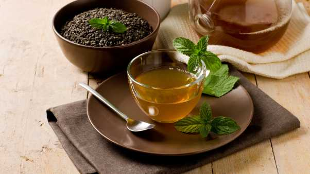 tea, mint, leaves