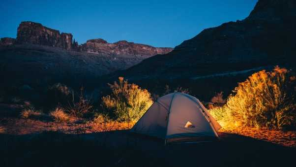 tent, camping, mountains