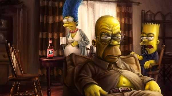 the simpsons, homer, marge