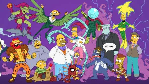 the simpsons, simpsons, spiderman