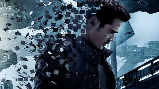 total recall, colin farrell, city