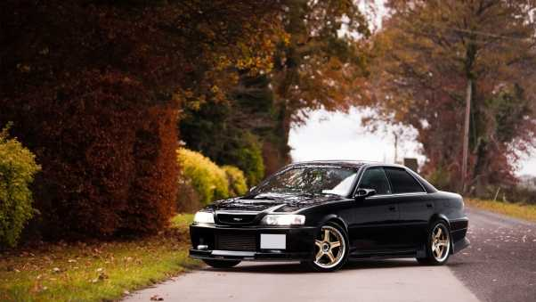 toyota, chaser, side view