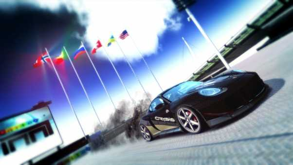 trackmania, car, flags