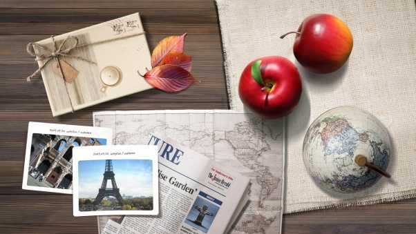 travel, apple, drawings