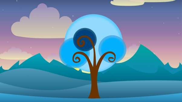 tree, vector, art