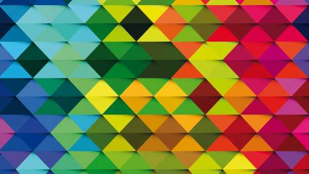 triangle, background, colorful