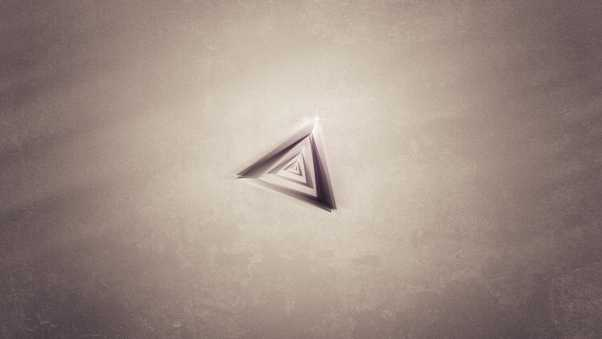 triangle, background, paper
