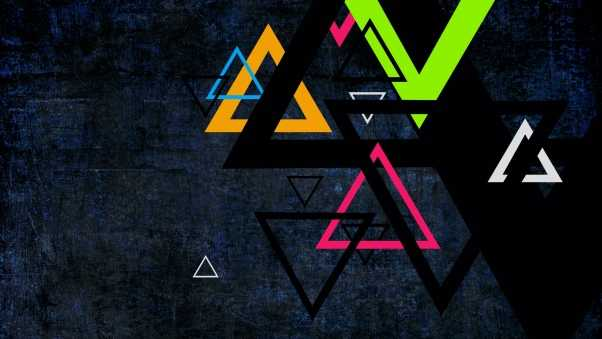 triangle, colored, background