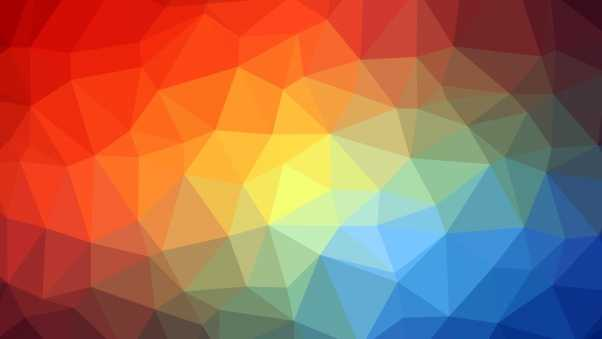 triangle, geometric, multicolored
