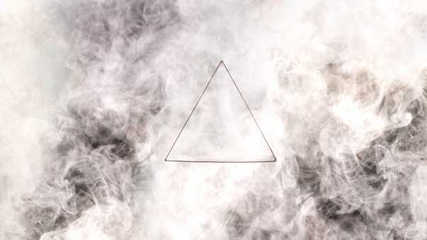 triangle, gray, drawing