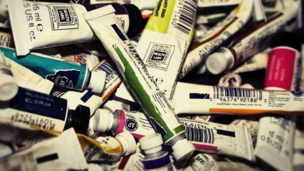 tubes, paint, collection