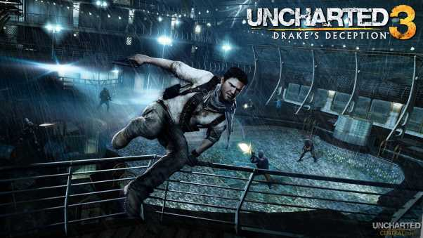 uncharted 3 drakes deception, jump, fence