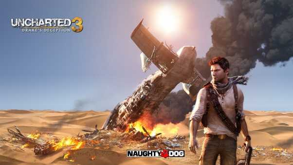 uncharted 3 drakes deception, smoke, airplane