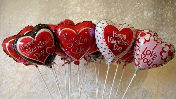 valentines day, hearts, balloons