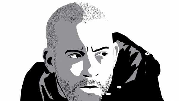 vin diesel, vector graphics, hood