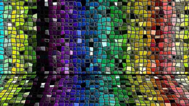 wall, stained glass, mosaics