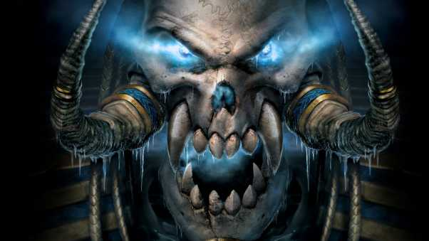 warcraft, skull, eyes