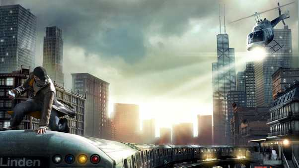 watch dogs, aiden pearce, chicago train