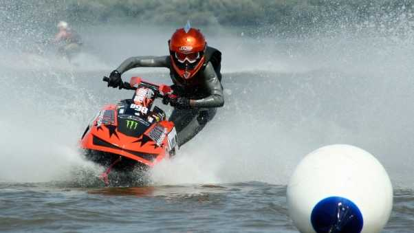 water motorcycle, extreme, buoy