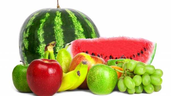 watermelon, apples, grapes